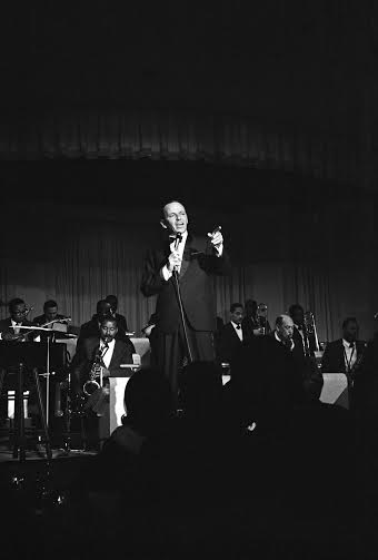 Frank Sinatra performing at The Sands Hotel in Las Vegas, Nevada 1964 © 1978 David Sutton