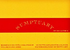 Sumptuary By de la Cruz