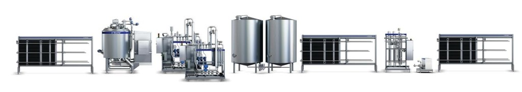 Continuous multi-stream blending with OneStep technology for recombined milk
