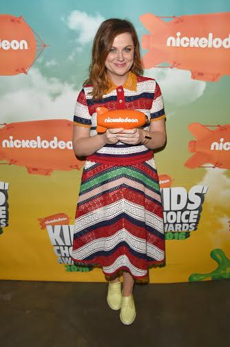 INGLEWOOD, CA - MARCH 12:  Actress Amy Poehler poses after winning the Favorite Animated Movie award for 'Inside Out, during Nickelodeon's 2016 Kids' Choice Awards at The Forum on March 12, 2016 in Inglewood, California.  (Photo by Jason Merritt/KCA2016/Getty Images for Nickelodeon)