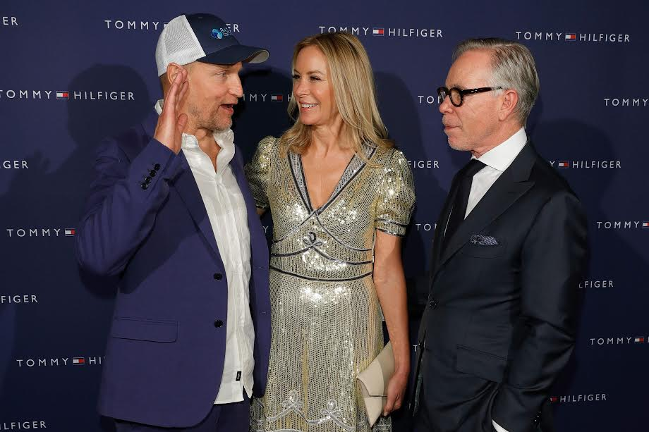 ZURICH, SWITZERLAND - SEPTEMBER 30:  (L-R) Woody Harrelson, Dee Hilfiger and Tommy Hilfiger at the Tommy Hilfiger Dinner in celebration of the 12th Zurich Film Festival on September 30, 2016 in Zurich, Switzerland.  (Photo by Andreas Rentz/Getty Images for Tommy Hilfiger)