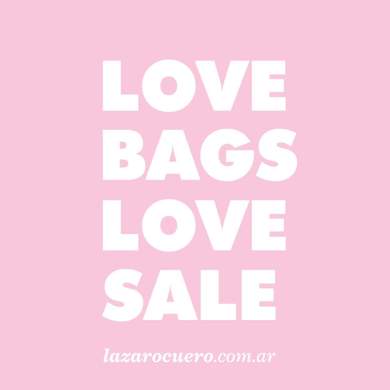 LOVE BAGS LOVE SALE by LAZARO